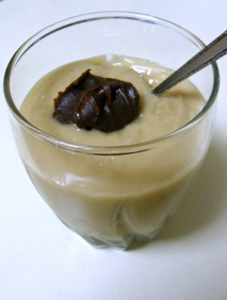 butterscotch pudding with topping