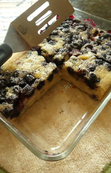 blueberry clafoutis piece