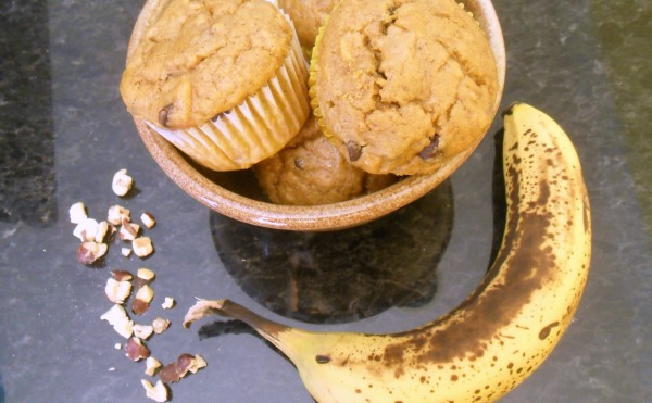 pumpkin-banana-muffin