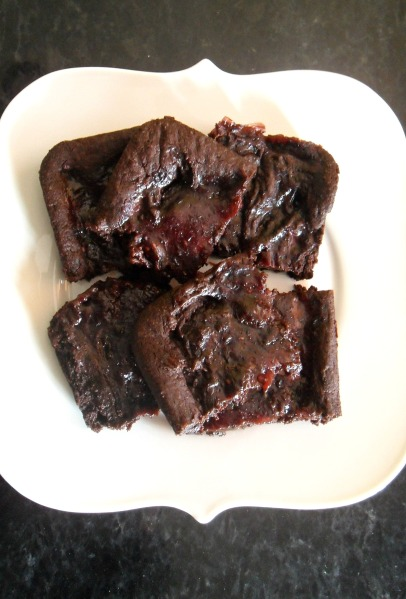 rasp fudge brownies