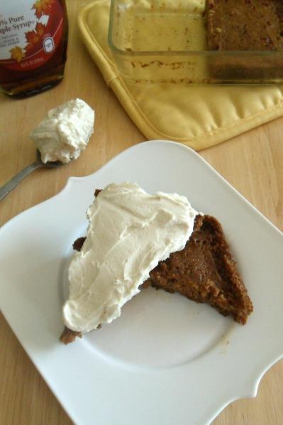 applesauce cake and maple buttercream