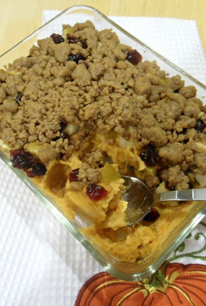 fall sweet potato crumble
