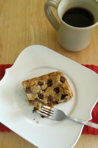 oatmeal choc chunk cookie bar