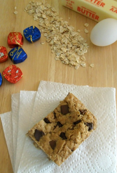 oatmeal choc chunk cookie bars