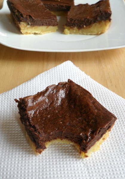 Black and White Gooey Butter Bars