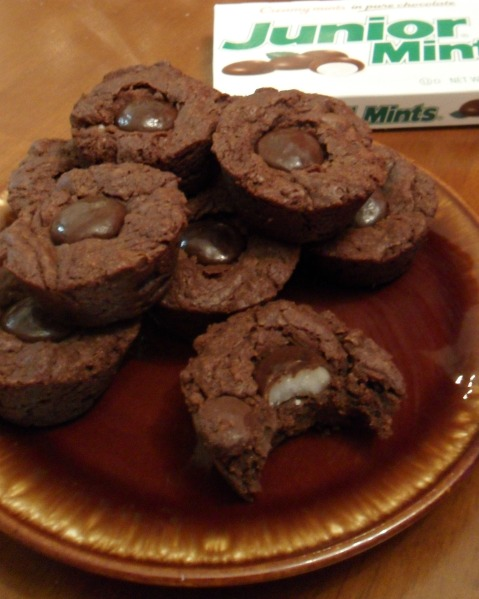 mint brownie bites