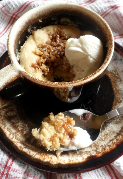 nut coffee mug cake
