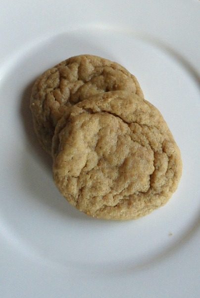 chewy pb cookies (small batch)