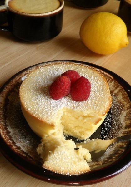 mini lemon souffles