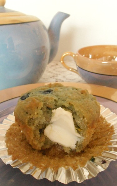 blueberry orange oat muffin