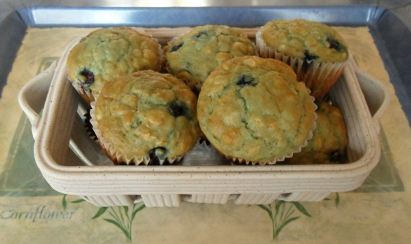 blueberry orange oat muffins