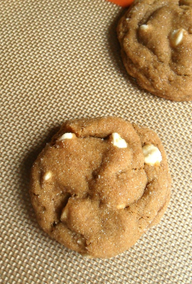 molasses white chocolate cookie