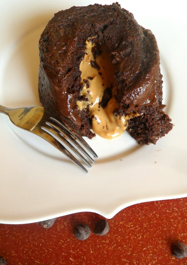 pb chocolate molten cake